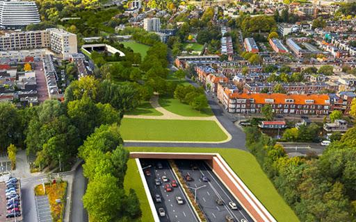 Nieuwe ring krijgt groen plein, fietstunnel en extra afritten